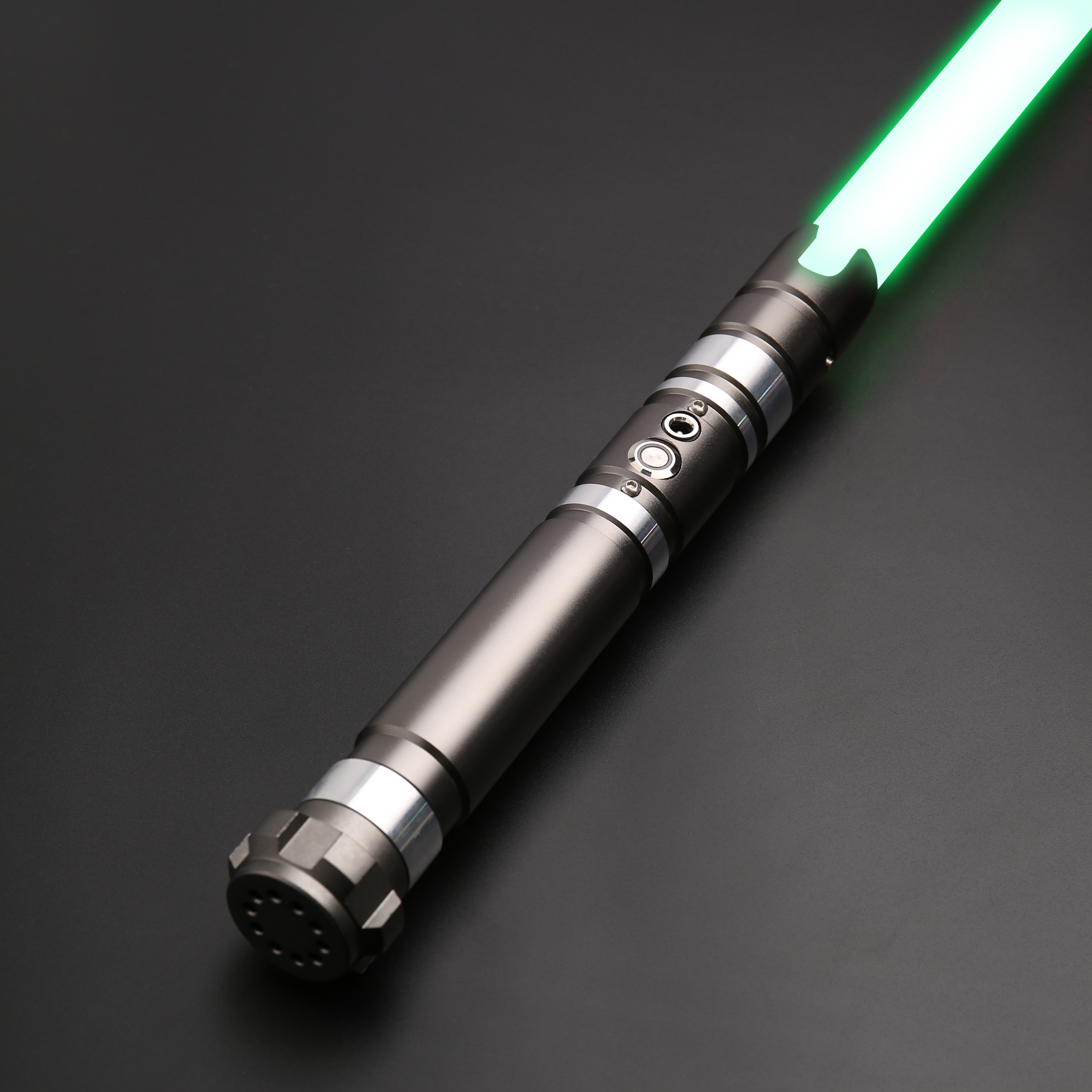 TXQsaber Dueling Lightsaber 1 Inch RGB Blade Metal Handle With Sound And LED Light Force FX FOC Saber Christmas-TS012