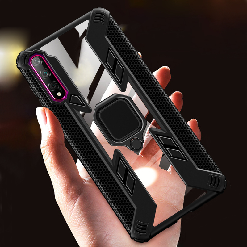 Shockproof Armor Case For Xiaomi Mi A3 9T Pro 9 8 Lite Redmi Note 8 7 T 10 Note8 8T K20 Pro Transparent Ring Holder Phone Covers