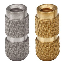 3000pcs IBB 440-4/6/8/10/12 Molded-in Threaded Inserts Blind Threaded-Unified Leaded Brass Nature PEM Standard Nut