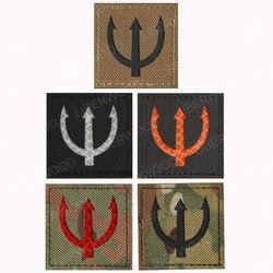 Selo da marinha dos eua equipe remendo tridente reflexivo infravermelho poseidon ir remendo emblema força especial braçadeira