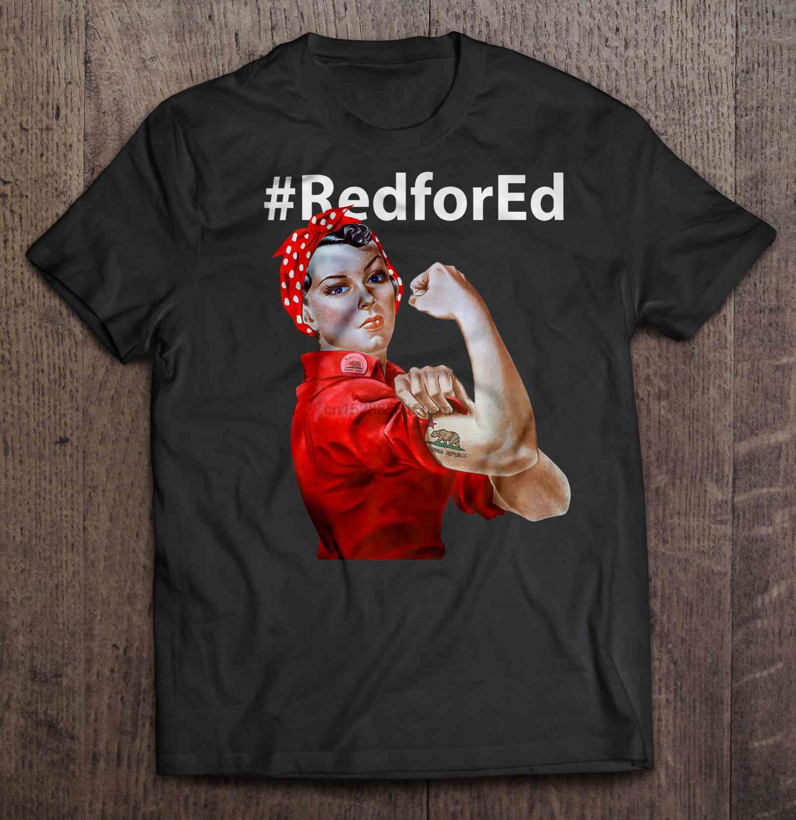#Redfored California Rosie The Riveter Version T-Shirts