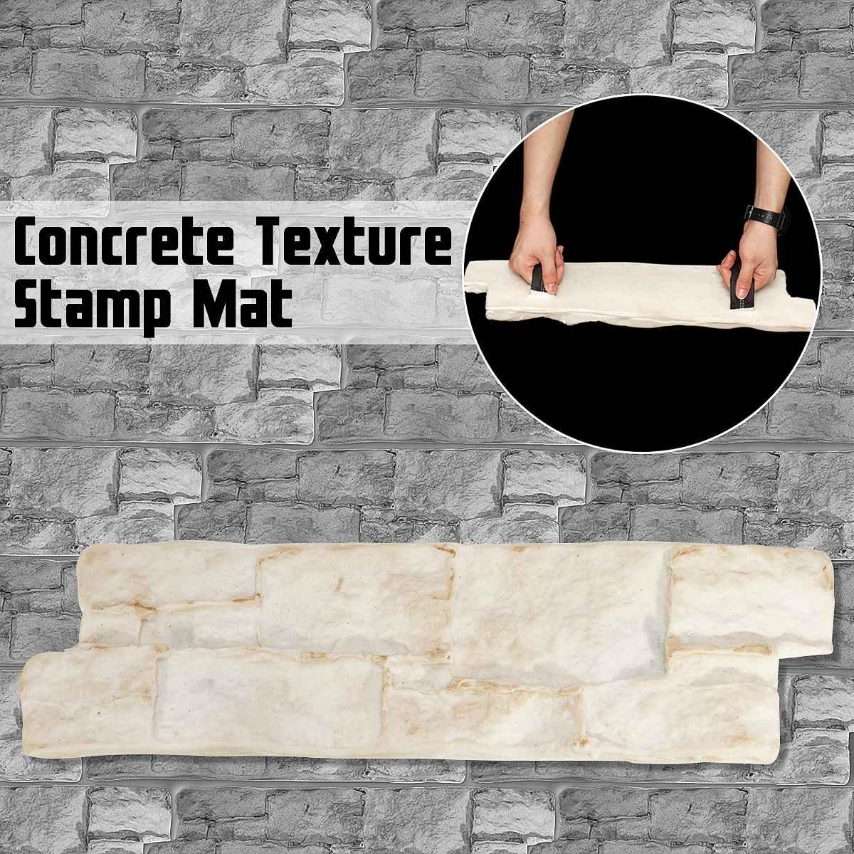 Heißer Polyurethan Formen Modell für Beton Gips Wand Stein Zement Fliesen Gummi Formen Dekorative Home Garten Boden Wand Formen