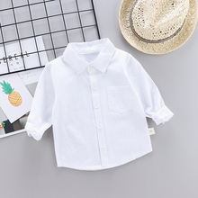 2020 Children SOLID WHITE Boys/girls Shirts Kids Tops Boys/girls Long Sleeve Baby Wedding Clothing Pikachu Baby Top Tee Shirts