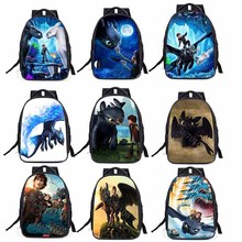 Dragon 3 Toothless light Fury Anime Night Primary school student Backpack Big capacity burden backpack