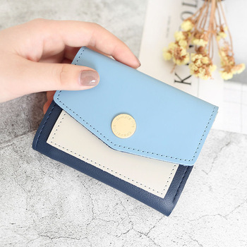 2021 Women Wallets Short Section Korean Three Fold Wallet Stylish and Simple Clutch Bag Wallet Wallet stylish zipper and magnetic closure design wallet for women