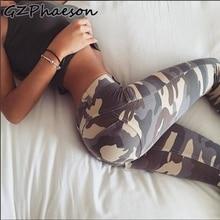 цена на Women High Waist Gym Fitness Leggings Sexy Camouflage Casual Stretch Printed Workout Leggings Plus Size Running Slim Leggings