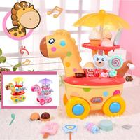 Mini Simulation Trolley Toy Candy Ice Cream Car More Than 3 Years Pretend Toy Set Children without Battery