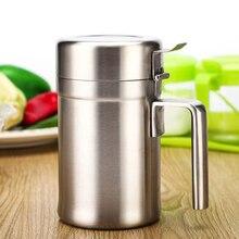 Stainless Steel Olive Oil Dispenser Pot Home Kitchen Cooking Sauce Bottle  Portable Salad