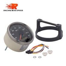 JJCOCO 85 мм Скорость ometer 160MPH Скорость измерителем влажности и температуры с белым/янтарный Подсветка 12V 24V с ЖК-дисплей для автомобиля, грузовик...