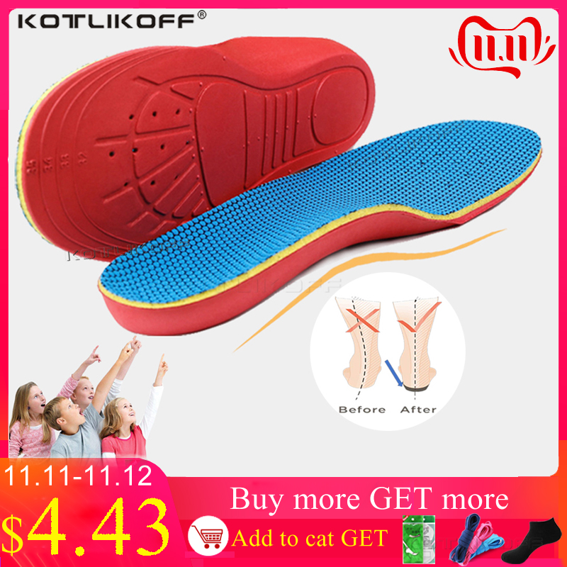 KOTLIKOFF 3D Children Kids Orthotic Insoles Prevention Flat Feet Arch Support Insole For X-Legs Child Orthopedic Shoes Soles Pad