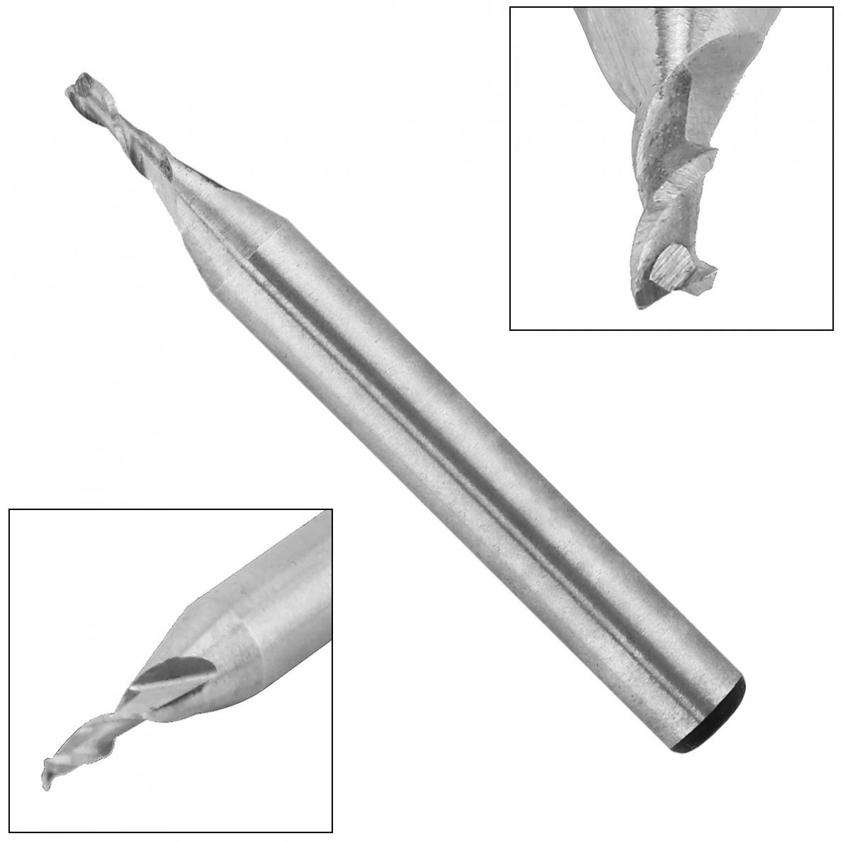 2mm 2 Flute HSS End Mill Cutter With Super Hard  Straight Shank For CNC Mold  Processing
