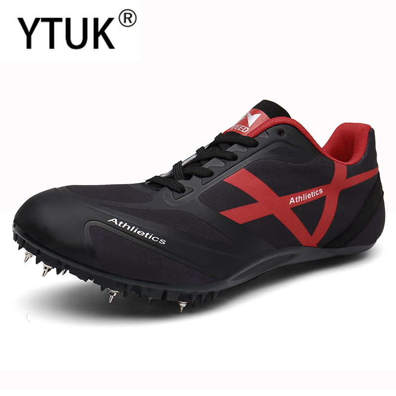 YTUK Men Track Field Shoes Women Spikes Sneakers Running Sprint Shoes Lightweight Soft Comfortable Professional Athletic Shoes