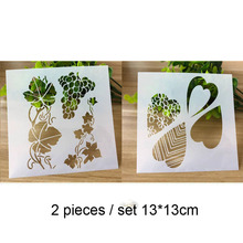 2pc Vines Painting Template For Wall Painting Scrapbooking Album Decor Embossing Template Bullet Journal Supplies Stencils 6pc template stencils for painting and decoration scrapbooking photo album decorative embossing wall bullet journal stencils