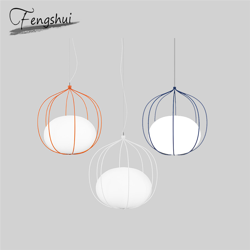Nordic Wire Glass Pendant Lights Lighting LED Light Pendent Lamp Dining Living Room Bedroom Kitchen Bar Decorative Hanging Lamp