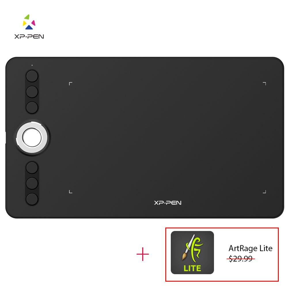 XP-stylo déco 02 graphique dessin tablette stylo tablette avec P06 stylet passif sans batterie et touches de raccourci (pression 8192 niveaux)