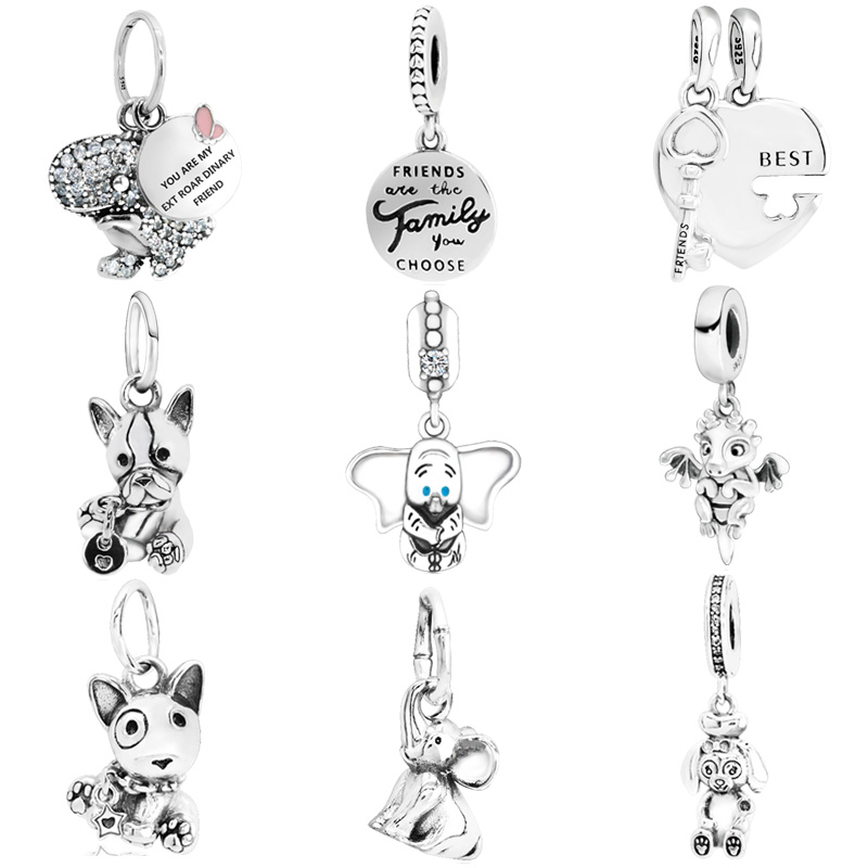 New Arrival 925 Sterling Silver Beads,Bulldog Puppy Charms Fit Original Pandora Bracelets Women DIY Jewelry