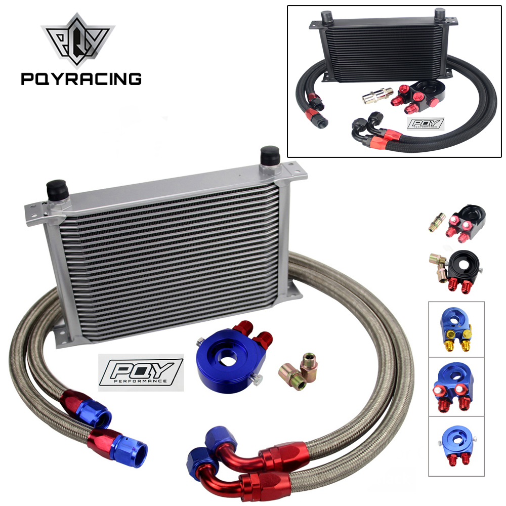 UNIVERSAL OIL COOLER 25 ROWS AN10 ENGINE TRANSMISS OIL COOLER KIT FILTER RELOCATION WITH PQY STICKER