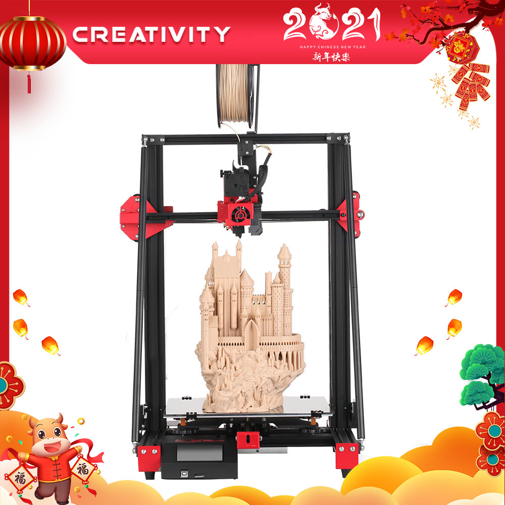 Creativiteit CY300 3D Printer TMC2208 Drives 3Dtouch Grote Afdrukken Gebied 300X300X400 Hoge Precisie En Hoge kwaliteit FDM3D Printer