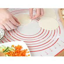 Dough Kitchen-Accessory Dual-Scales-Measurement Slicone Food-Grade Rolling-Mat Baking-Pad