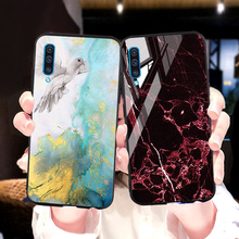 Marble Tempered Glass Case For Samsung Galaxy M30S A50S A70 A10S A20S