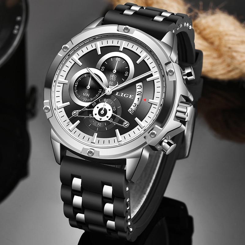 Relogio Masculino 2020 New Waterproof Mens Watches LIGE Top Brand Luxury Quartz Wrist Watch Men Business Clock Sport Chronograph