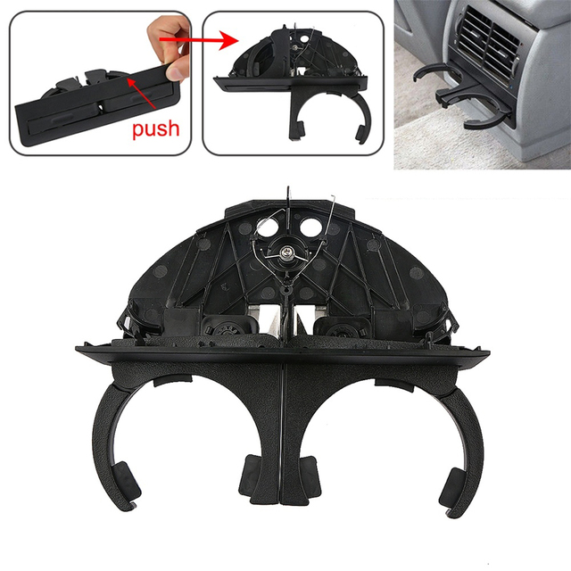 Car Rear Cup Holder Bracket Dual Hole Plastic Center Console Cup Holder Replacement Auto Accessories For BMW E39 1997 2003