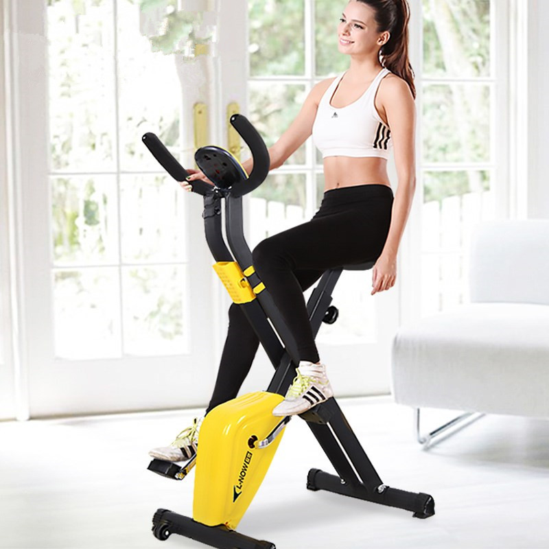 Indoor Cycling Bikes Mini Exercise Bike Foldable Spinning Bike Domestic Gym Machine Fitness Equipment Sport Bicycle Fitness Bike