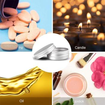 15g 30g 50g cone shape acrylic cream container pink cosmetic cream bottle cosmetics packaging pot tin skin care makeup can Round Portable Aluminium Cosmetic Pot Jar Tin Container Cans Cream Screw Box Lid Sample Box Silver Box Craft Silver For Cos U2E8