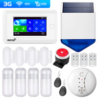 New Arrival PG106 2G 3G Big Screen GSM WiFi Home Security Alarm System IP Camera Support App Control RFID card