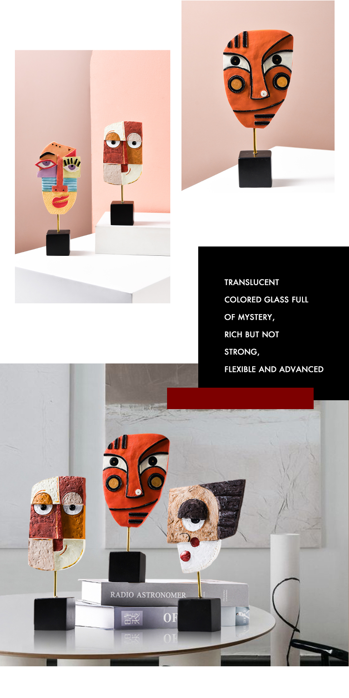 cor arte post moderno casa aconchegante ornamento