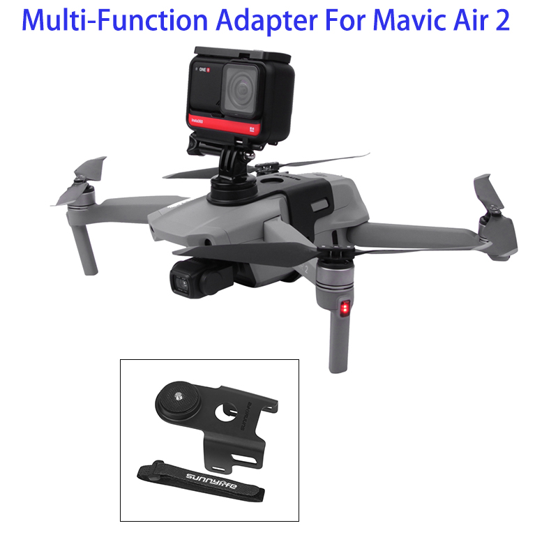 Drone Sports Camera Fill Light Holder Bracket Aadpter For DJI Mavic Air 2 Parts For GoPro Insta360 Osmo Action Cameras Holders