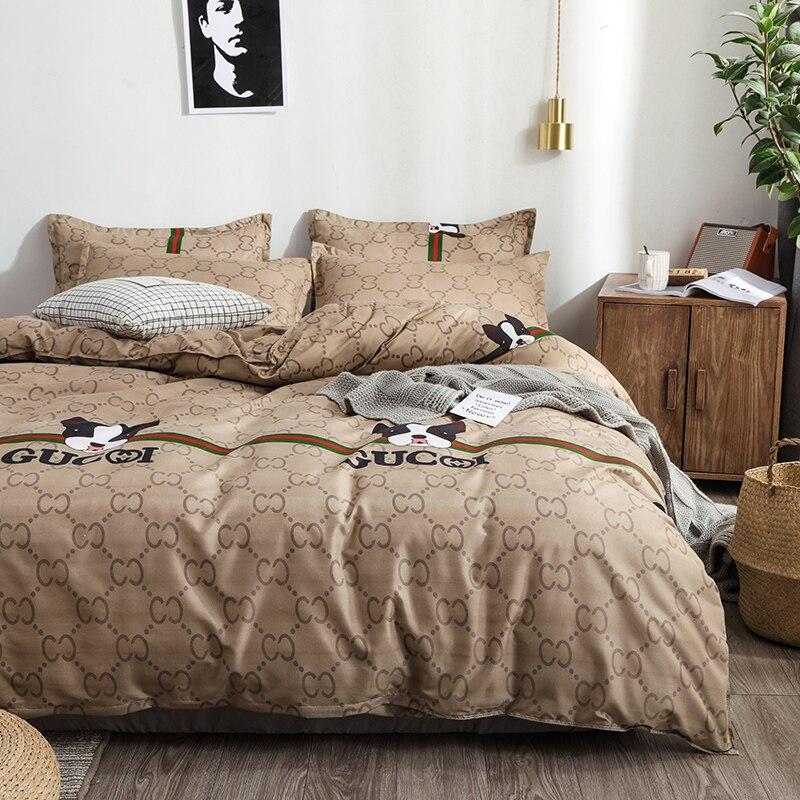 Ensembles de literie de luxe housse de couette drap de lit taie d'oreiller couvre-lit housse de couette nouvel ensemble de literie pour la maison