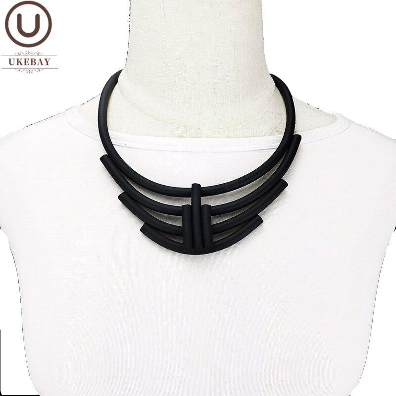 UKEBAY-colliers ras du cou pour femmes, bijoux en caoutchouc fait à la main, élastique, pour fêtes, chaînes de chandails pour robes