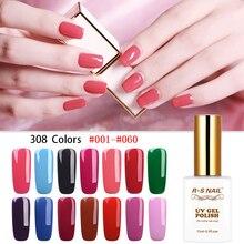 RS NAIL Gel Polish Nail Art Manicure Gellak Vernis Semi Permanant UV LED 308 Colors Range Esmalte Para Unha Varnish Set 15ml
