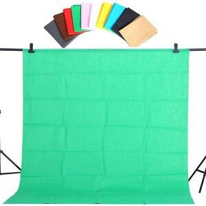 Image 4 - CY offre spéciale 1.6x2m vert coton Non polluant Textile mousseline arrière plans Photo Studio photographie écran Chromakey toile de fond