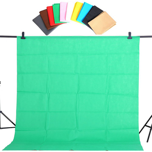 Image 4 - Cy ホット販売 1.6x2m グリーン綿非汚染物質テキスタイルモスリン写真背景スタジオ写真撮影画面クロマキー背景
