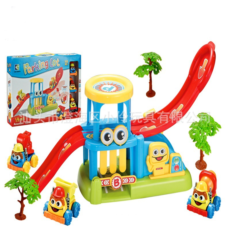 Children Joy Parking Lot Assembled Rail Car Electric Camera Track Car Engineering Motorcade Parent And Child Educational Toy
