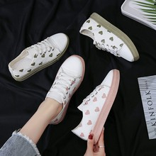 2020 New Women Casual Shoes With Heart Shape Female canvas