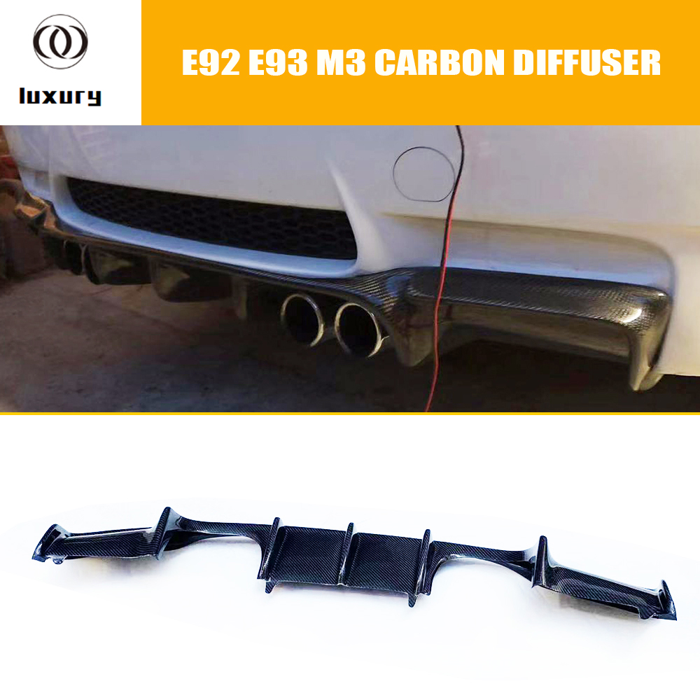 M3 Carbon Fiber Rear Bumper Lip Diffuser Spoiler for BMW E92 M3 Coupe E93 M3 Convertible 2006 - 2011 (Can't fit E90 M3) image