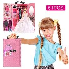 DIYตุ๊กตาบ้านตุ๊กตาตุ๊กตาตู้เสื้อผ้าเฟอร์นิเจอร์ตุ๊กตาของเล่นเด็กคริสต์มาสของขวัญ