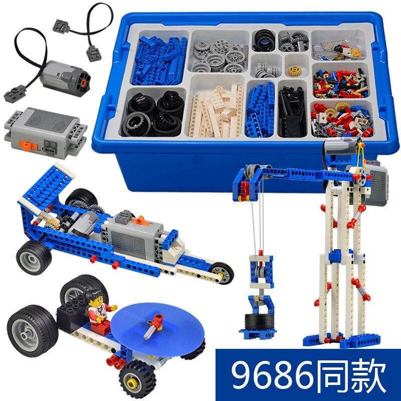 9686 технические детали, многотехнологичные детали MOC, Обучающие школьники, Обучающие строительные блоки, набор функций питания для детей