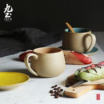 Luxury Japanese Coffee Cup and Saucer Ceramic Unbreakable Small Cup and Saucer Porcelain Filxhan Kafeje Daily Supplies OO50BD