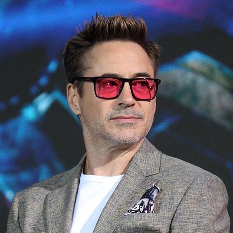 BEYONDSTAR 2019 Iron Man Tony Stark Square Sunglasses For Men Style Leopard Transparent Lens Sunglass Women Luxury Brand G808