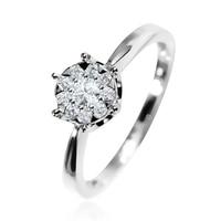 EDI Diamond Engagement Ring 14k White Gold 0.23ctw G/SI Natural Diamond Wedding Ring Marriage Promise Ring For Women