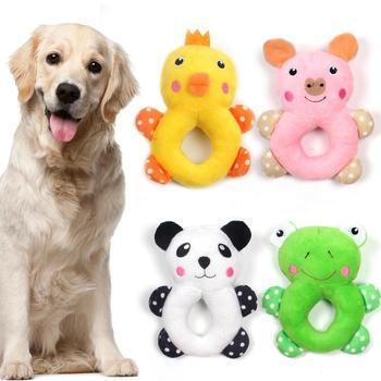 Krótkie pluszowe zabawki dla psów miękkie skrzypiące zabawki dla psów zęby szlifowanie zabawki dla zabawka do żucia dla psa zabawki dla psów wypchane zabawki akcesoria dla psów tanie i dobre opinie CN (pochodzenie) Polar Squeak zabawki pet squeaky toy pet toys dog toys Dropship plush as show