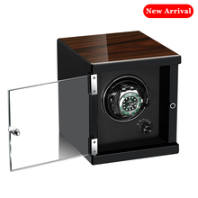 цена Watch Winder for automatic watches Wooden Watch Accessories Box Watches Storage Luxury with acrylic door онлайн в 2017 году