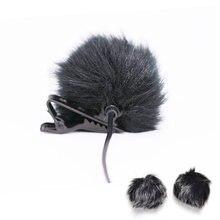 1 шт ветрозащитная муфта из искусственного меха для микрофона