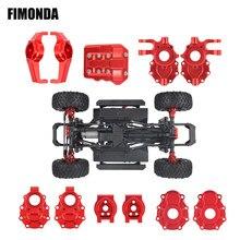 FIMONDA анодированный алюминиевый портальный осевой корпус для 1/10 RC Crawler Traxxas TRX4, обновленные детали для осей