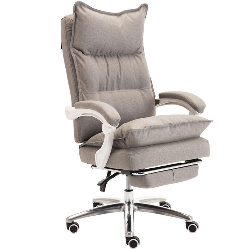 Cotton Fabric Computer Chair Office Chair With Lying And Footrest WCG Gaming Chair