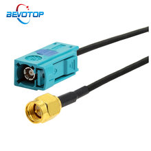 1PCS Fakra Z Female Jack to SMA Male Plug RG174 Cable GPS Antenna Extension Adapter RF Coaxial Pigtail for Auto Car Vehicle